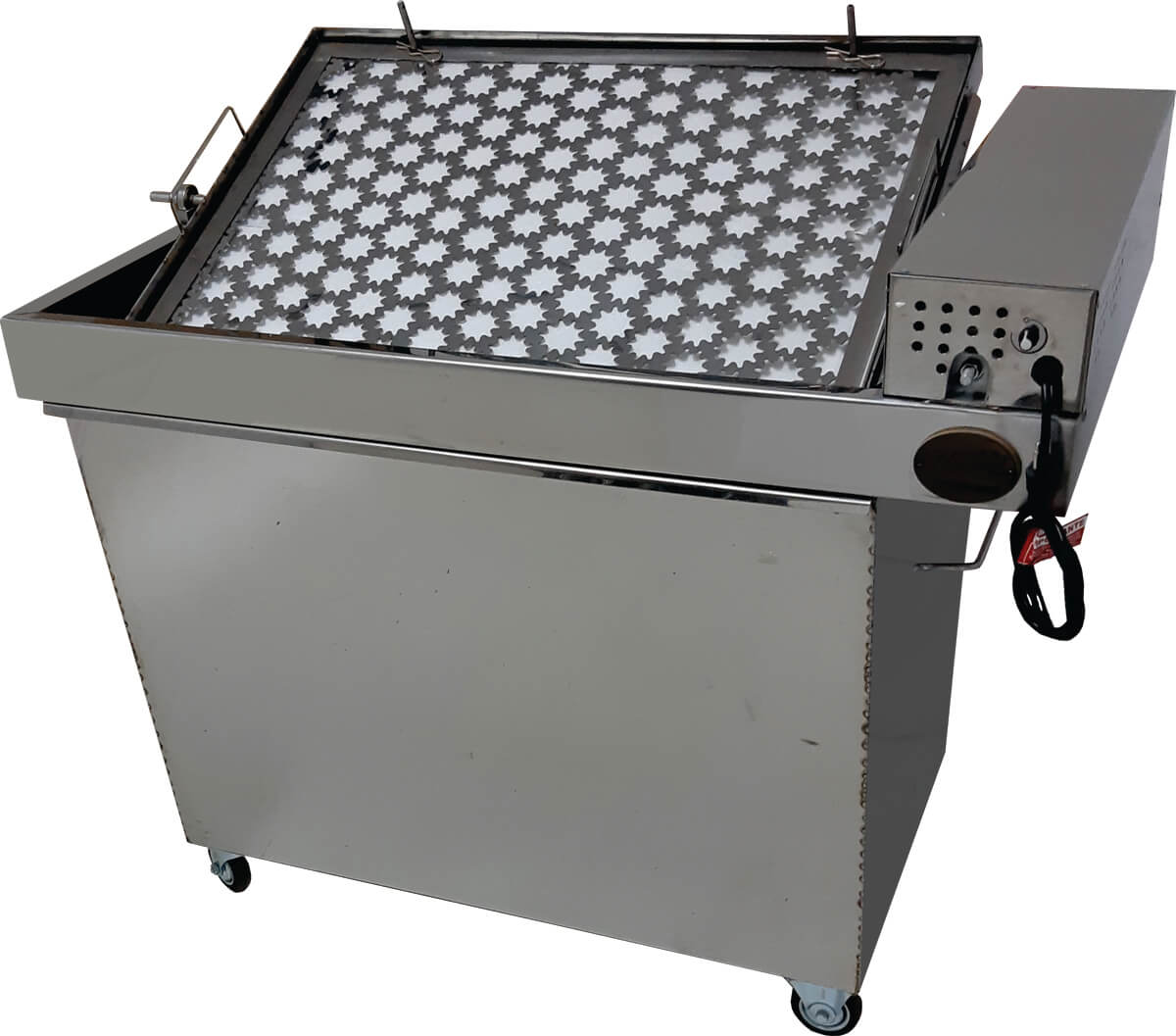 Churrasqueira portátil para costela com sistema de grelha