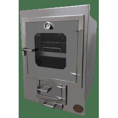 Forno para embutir Nobre Industrial + chapa 88x52 + porta com cinzeiro