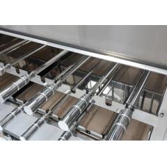 Churrasqueira portátil 11 espetos com tampa e sistema rotativo de grelha e espetos