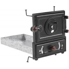 Porta e cinzeiro com moldura (médio)